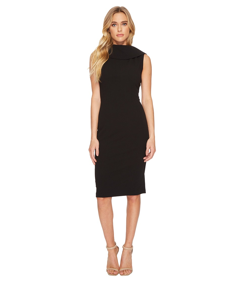 Adrianna Papell - Roll Neck Sheath with V-Back Dress