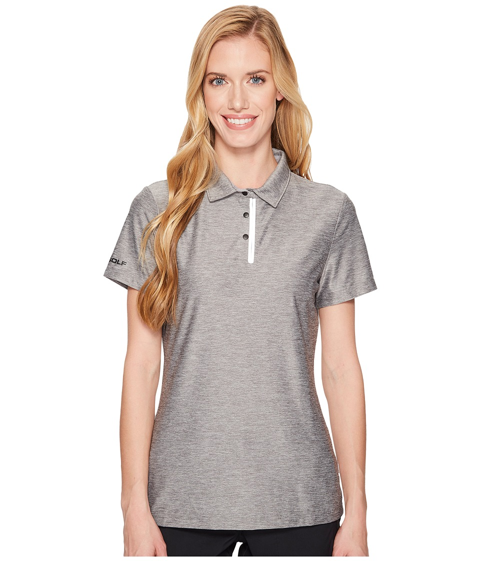 SKECHERS Performance - GO GOLF Pitch Short Sleeve Polo (Charcoal) Womens Clothing