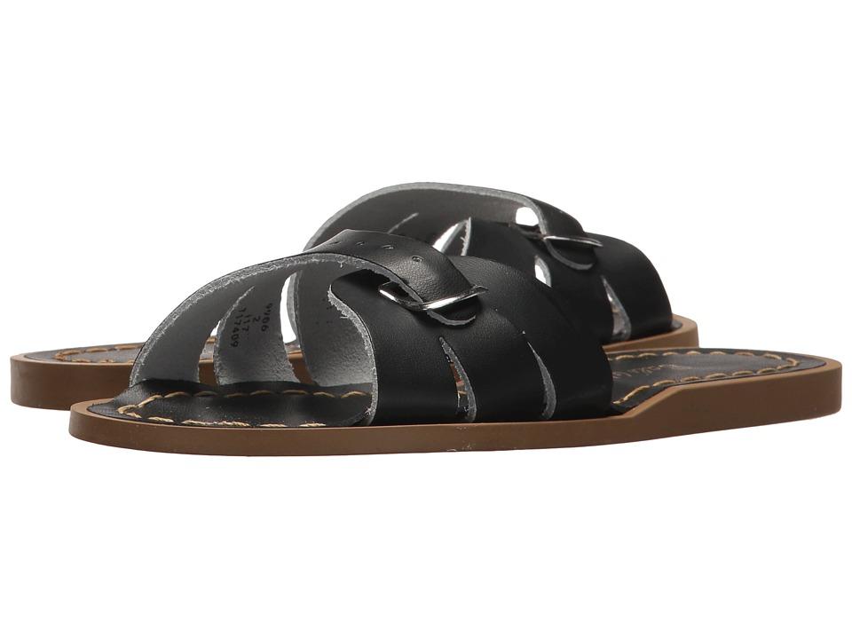 Salt Water Sandals Classic Slide (Little Kid) (Black) Girls Shoes