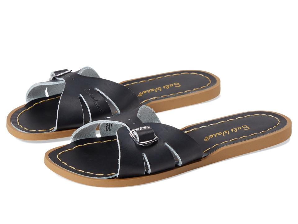 Salt Water Sandals Classic Slide (Big Kid/Adult) (Black) Girls Shoes