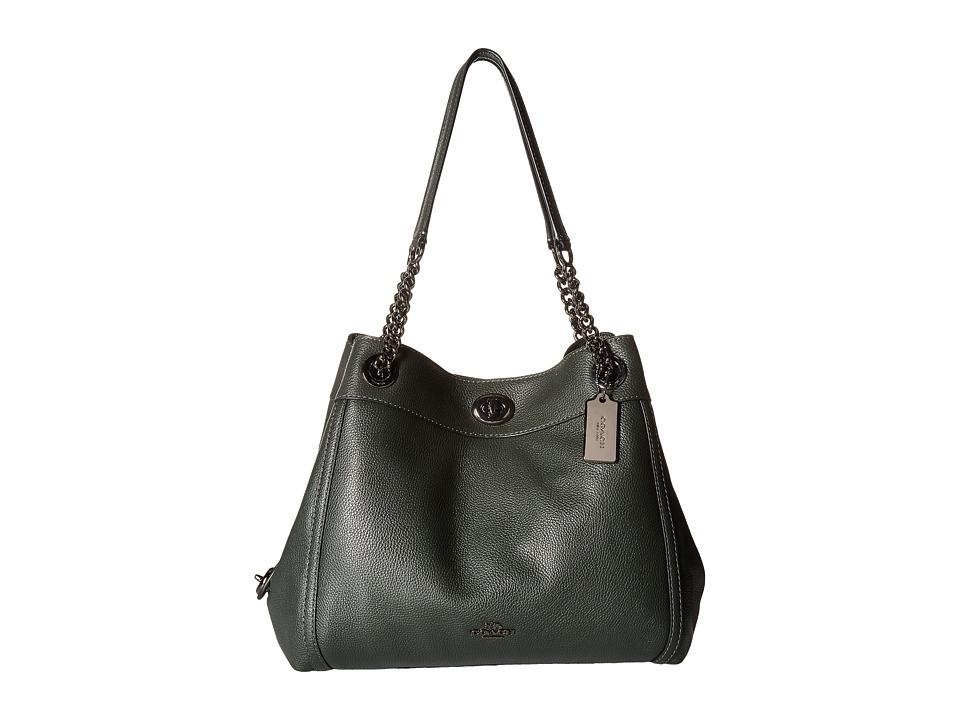 COACH - Turnlock Edie (Dk/Ivy) Handbags