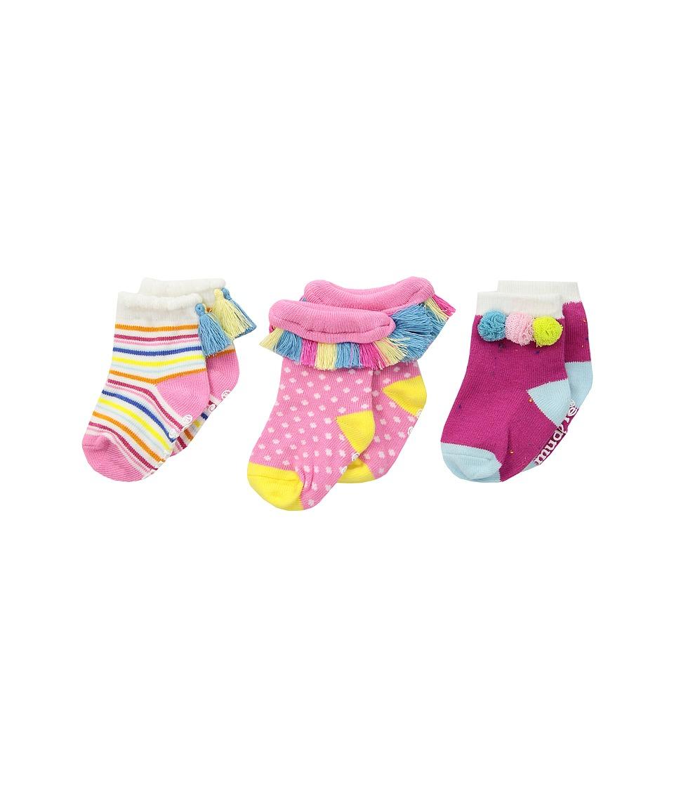 Mud Pie - Summer Fun Socks Set (Infant) (Pink) Girls Shoes
