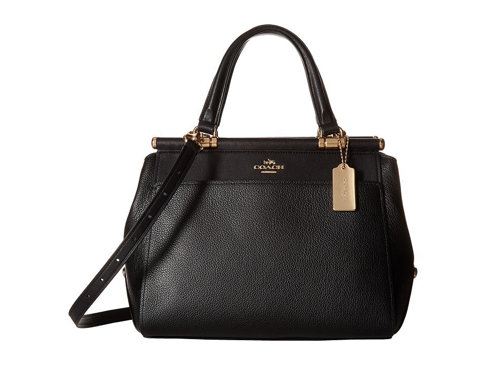 COACH - Drifter Satchel in Polished Pebble Leather (LI/Black) Satchel Handbags