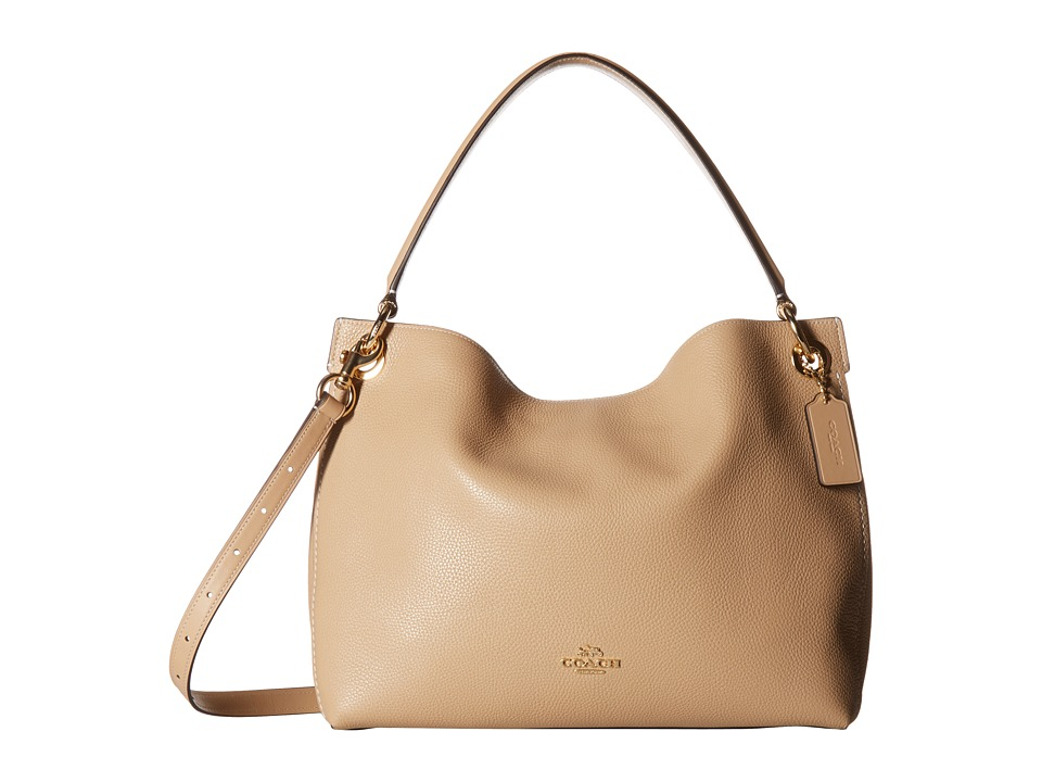 COACH - Polished Pebble Leather Clarkson Hobo (LI/Beechwood) Handbags