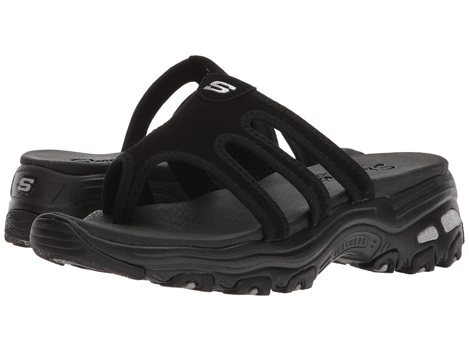Skechers D'Lites - Inter-Webs (Black/Black) Women's Shoes