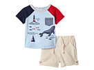 Mud Pie Sail Away Two-Piece Shorts and T-Shirt Set (Infant)