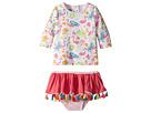 Mud Pie Floral Flamingo Rashguard Two-Piece Swimsuit (Toddler)