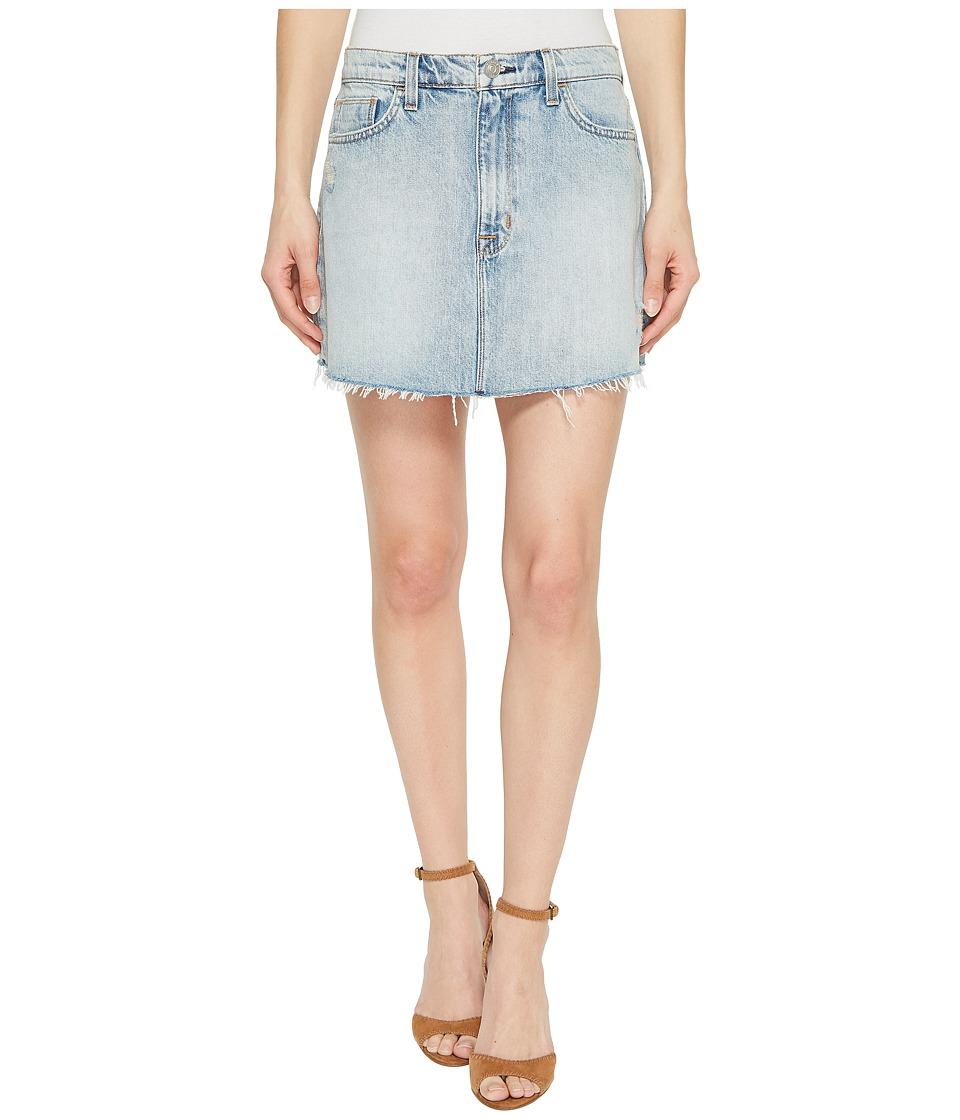 Hudson Valley Lighting Vivid Denim Mini Skirt w/ Raw Hem ...