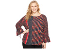 NIC+ZOE Plus Size Mixed Dots Top