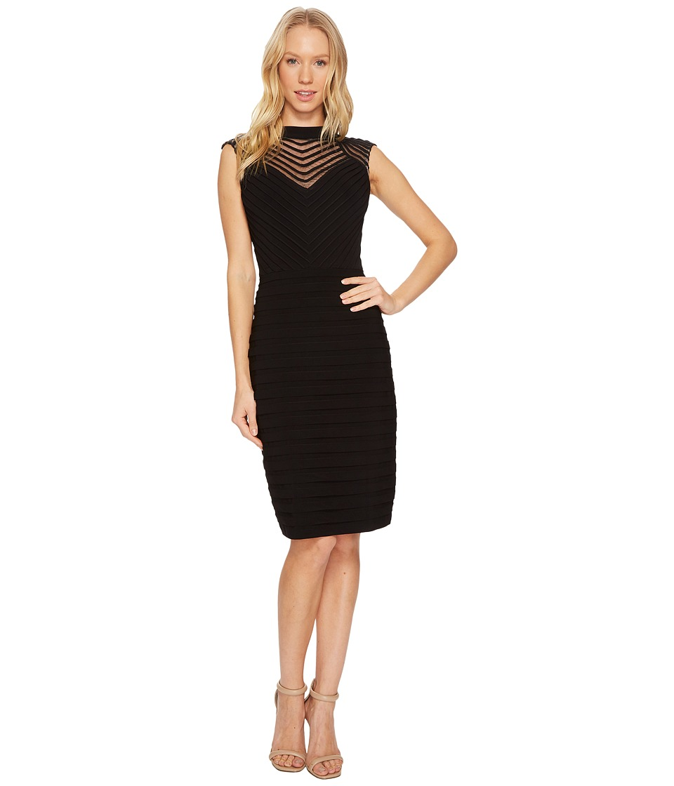 Adrianna Papell - Banded and Soutache Sheath Dress