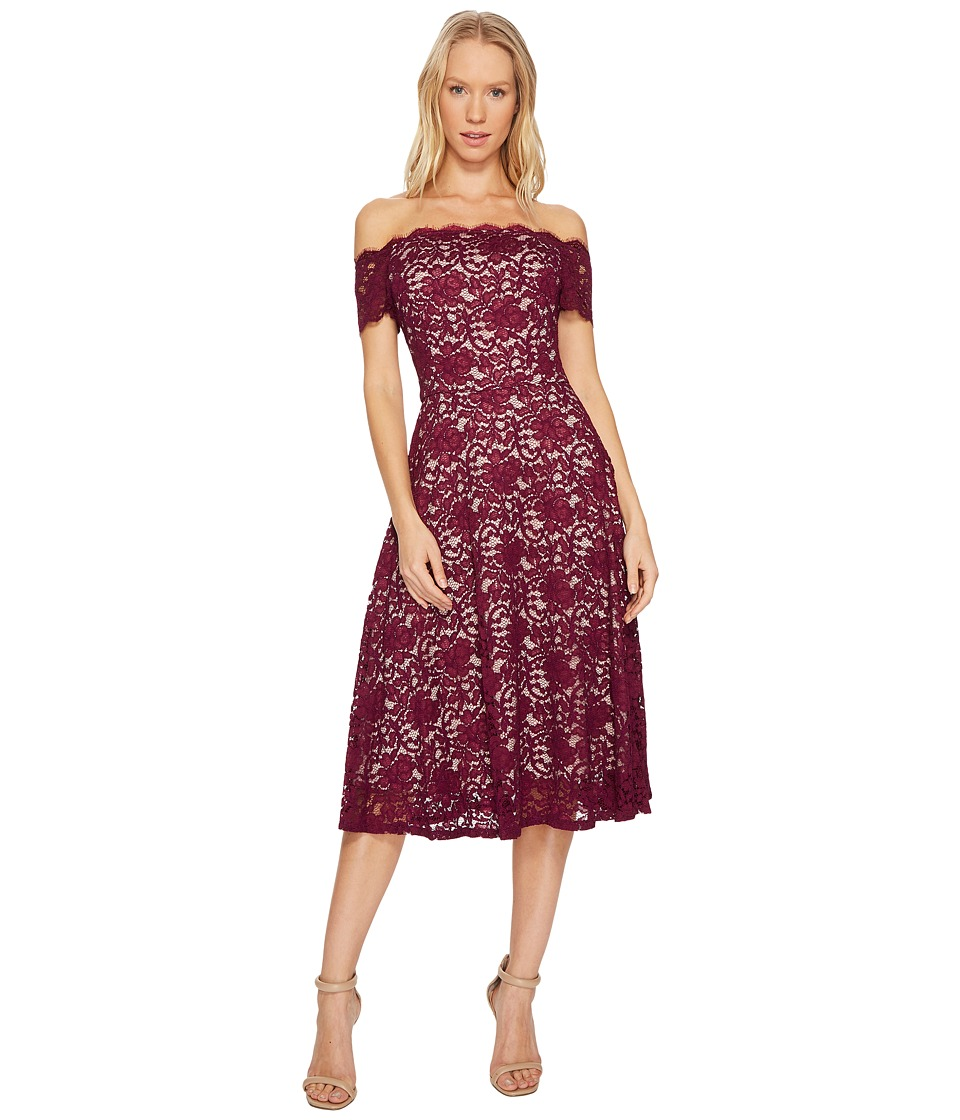 Adrianna Papell - Lace Midi Fit and Flare Dress
