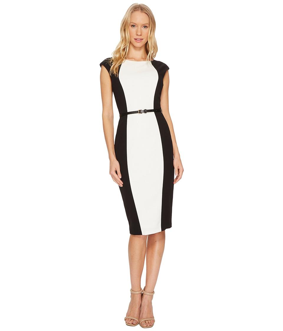 Adrianna Papell - Knit Crepe Sheath Dress