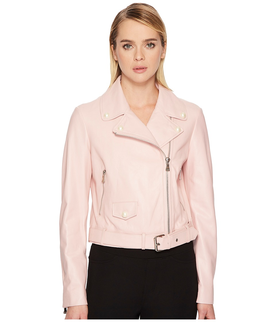 Boutique Moschino - Leather Jacket (Pink) Womens Coat