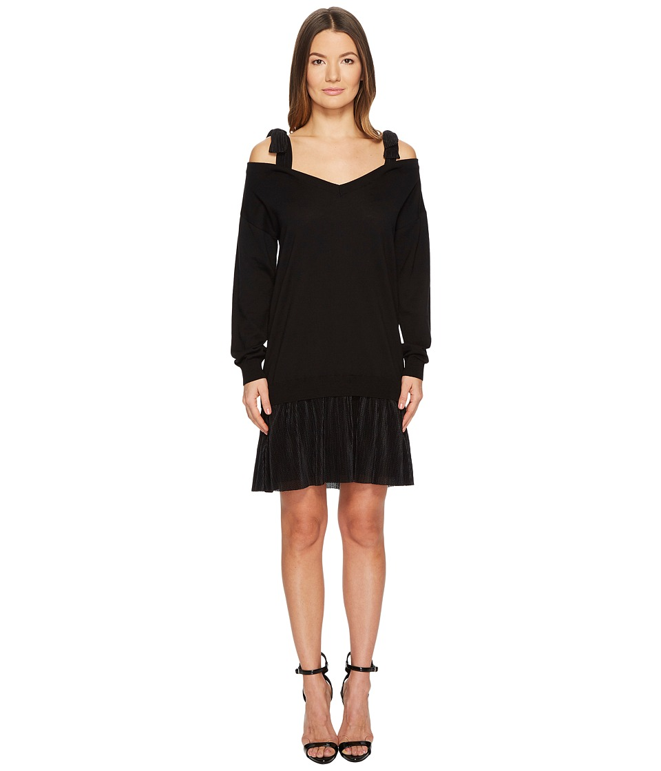 Boutique Moschino - Shoulder Tie Dress (Black) Womens Dress