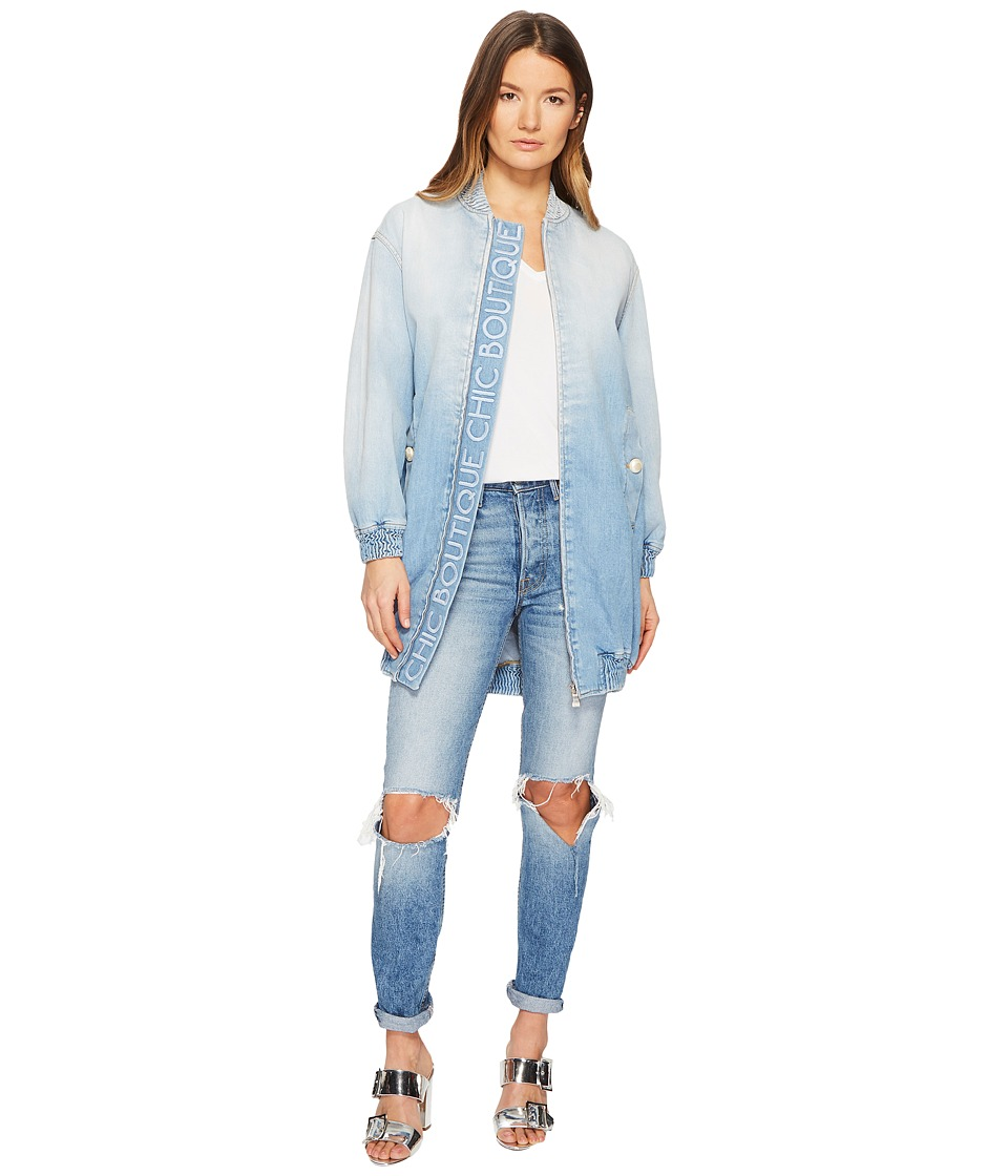 Boutique Moschino - Long Jacket (Denim) Womens Coat