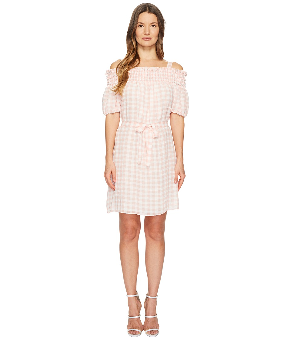 Boutique Moschino - Gingham Dress (Pink Gingham) Womens Dress