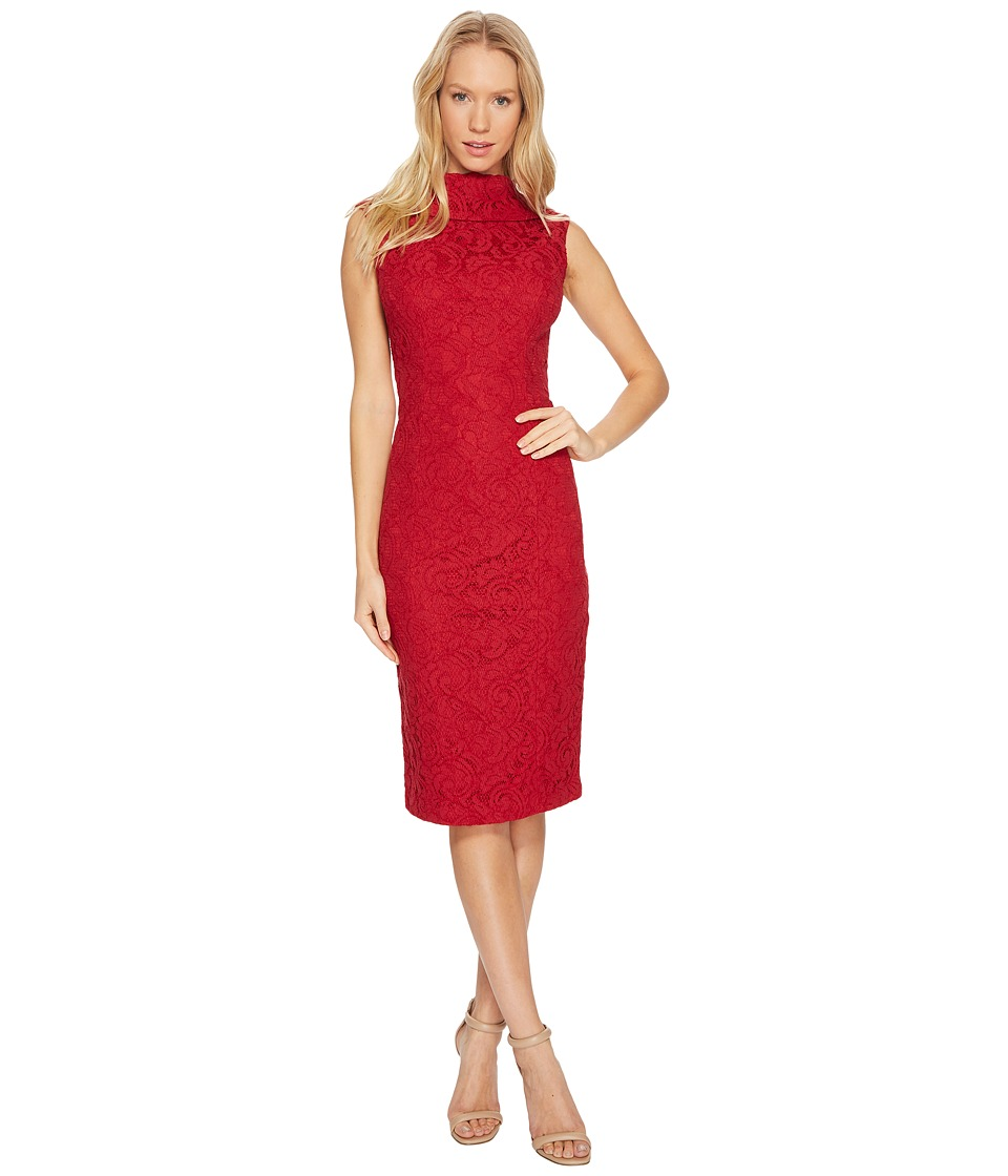 Adrianna Papell - Scroll Lace Sheath Dress