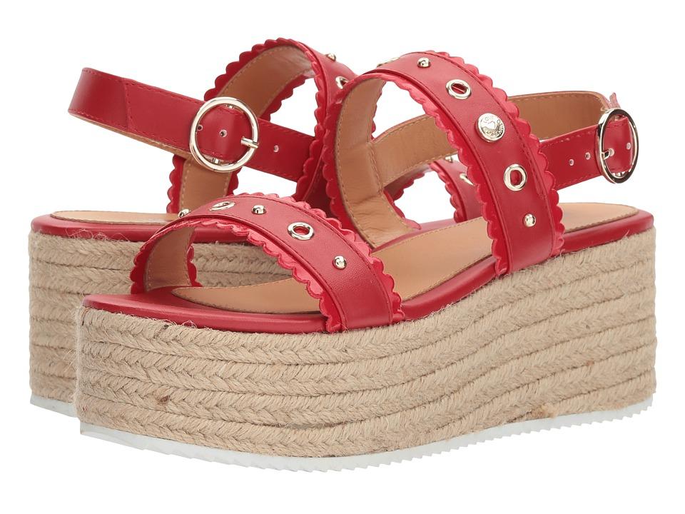 LOVE Moschino - Platform Sandal (Red) Womens Shoes