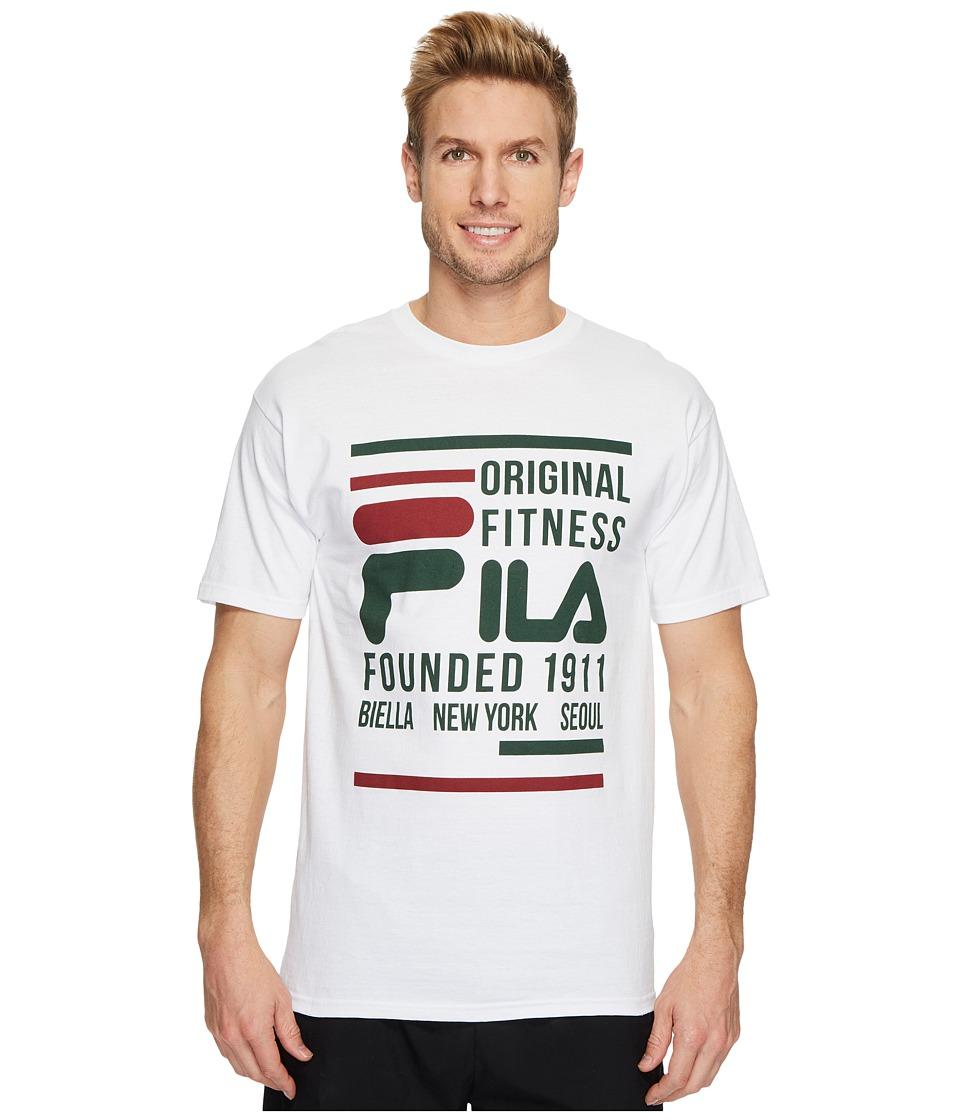 Fila Original Fitness T-Shirt (White/Combo) Men