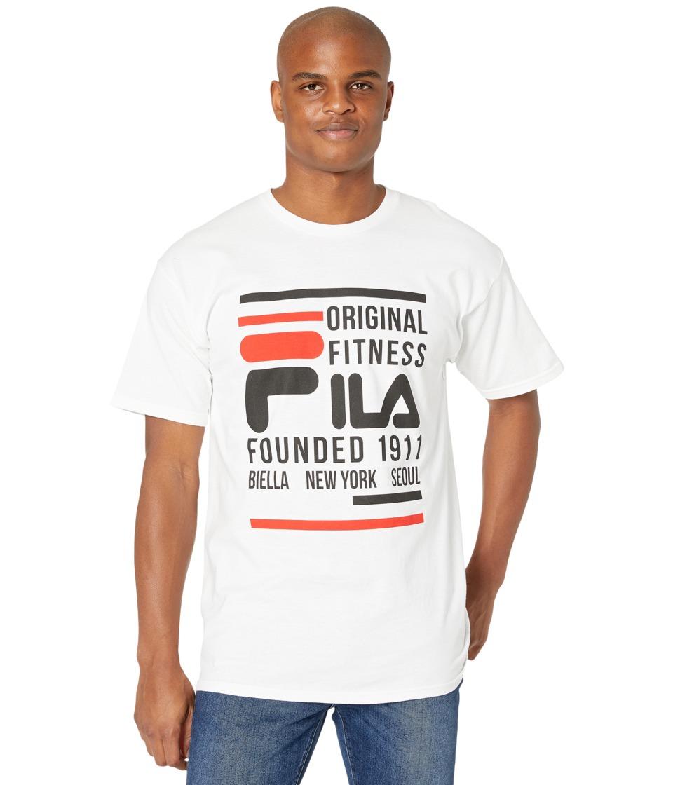 Fila Original Fitness T-Shirt (White/Black/Red) Men