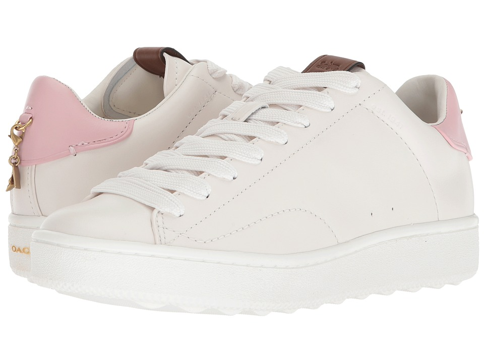 COACH - C101 (White/Petal Leather 2) Womens Shoes