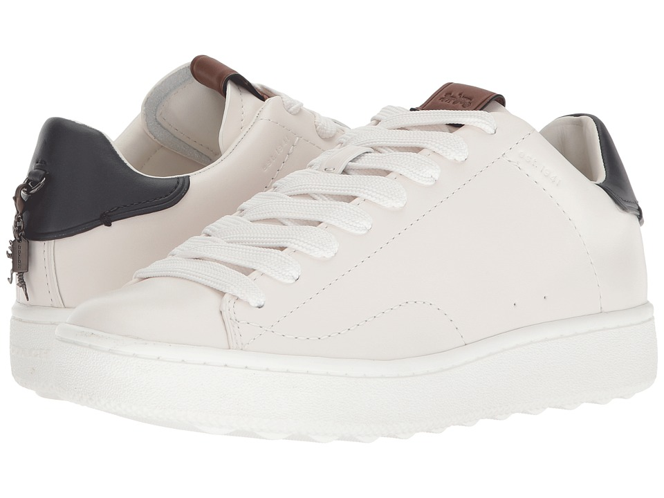COACH C101 (White/Midnight Navy Leather 2) Women's Shoes