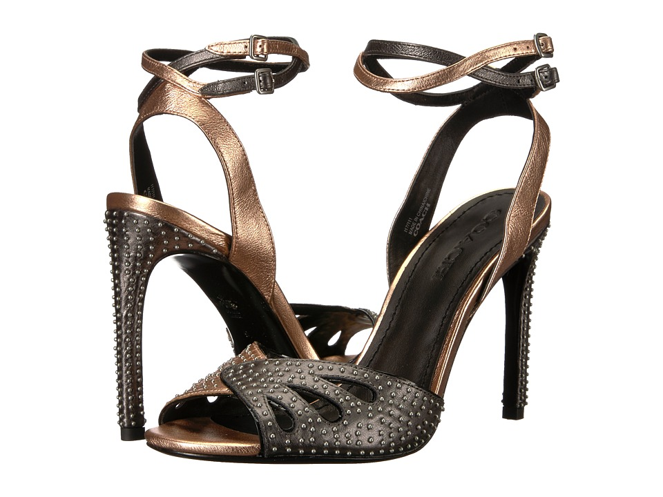 COACH - Duo (Rose Gold/Gunmetal) Women's Sandals