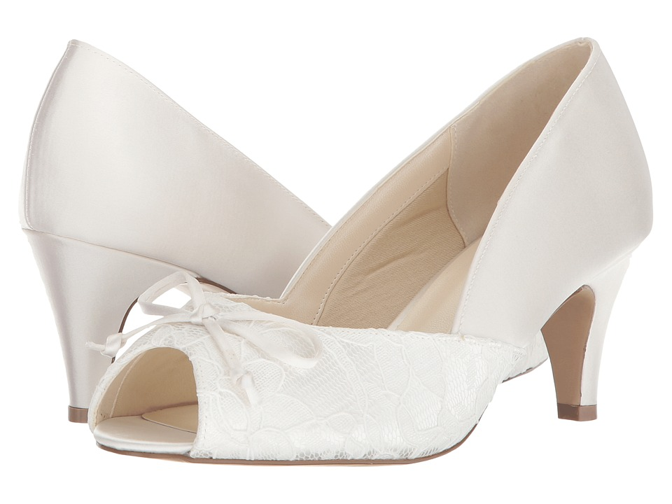 Vintage Inspired Wedding Dress | Vintage Style Wedding Dresses Paradox London Pink Dariela Wide Fit Ivory Womens Shoes $94.95 AT vintagedancer.com