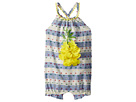 Mud Pie Pineapple and Stripes Summer One-Piece Bubble (Infant)