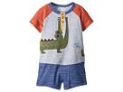 Mud Pie Alligator Raglan One-Piece Outfit (Infant)