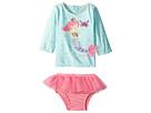 Mud Pie Mermaid Two-Piece Rashguard Swimsuit Set (Infant)