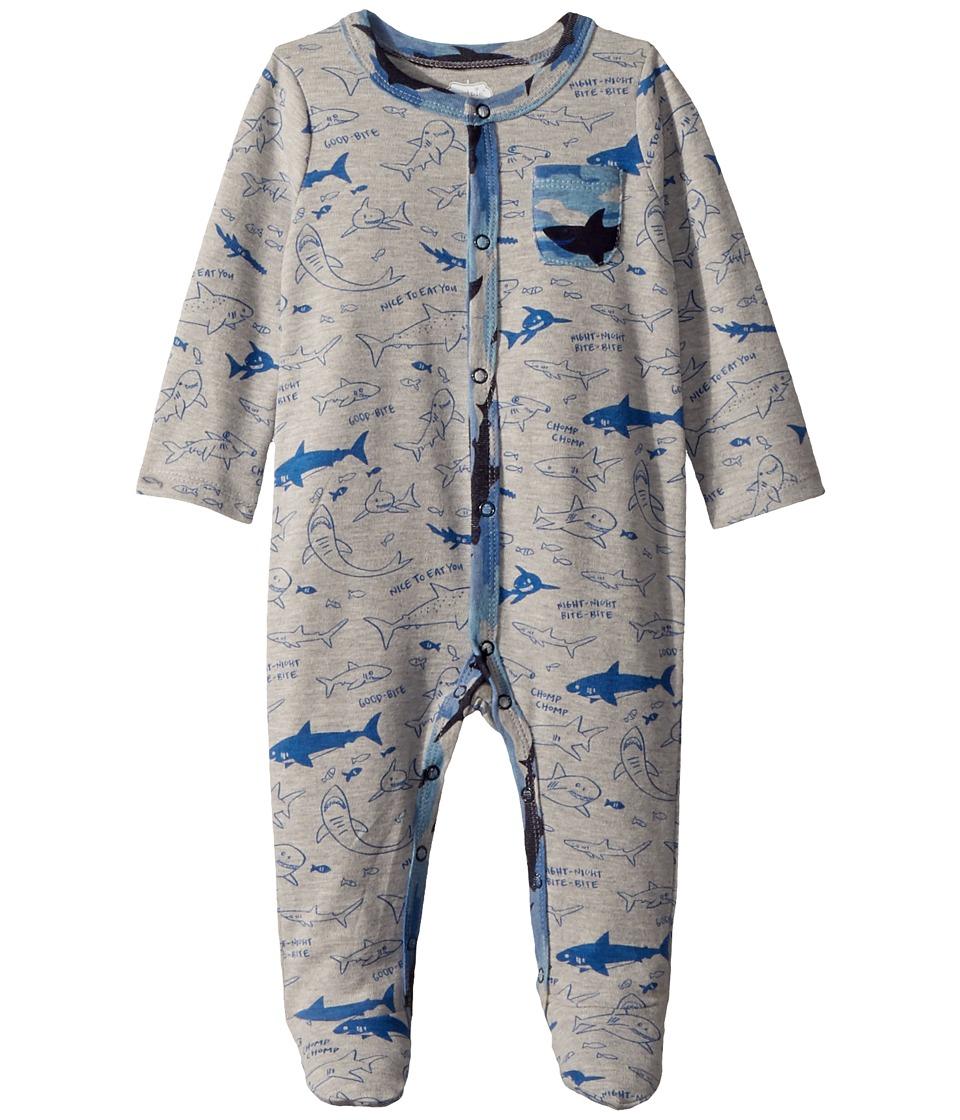 Mud Pie - Shark Print Footed Sleeper (Infant) (Blue) Boy'...
