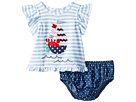 Mud Pie Sailboat Pinafore and Bloomer Two-Piece Set (Infant)