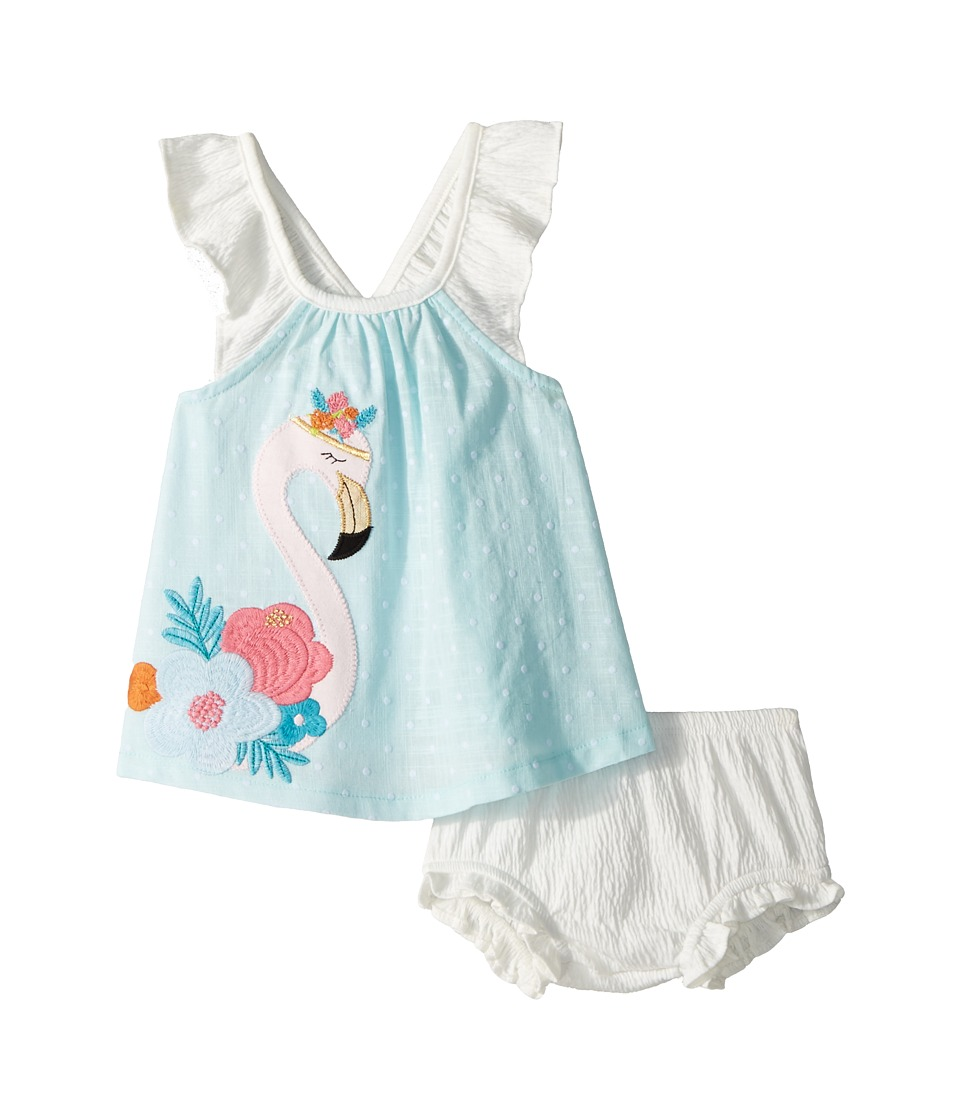 Mud Pie - Flamingo Dress and Bloomer Two-Piece Set (Infan...