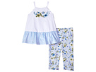 Mud Pie Floral Tunic and Capris Two-Piece Set (Infant/Toddler)