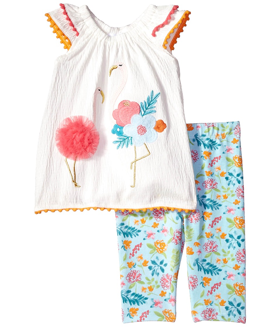 Mud Pie - Flamingo Tunic and Capris Two-Piece Set (Infant...