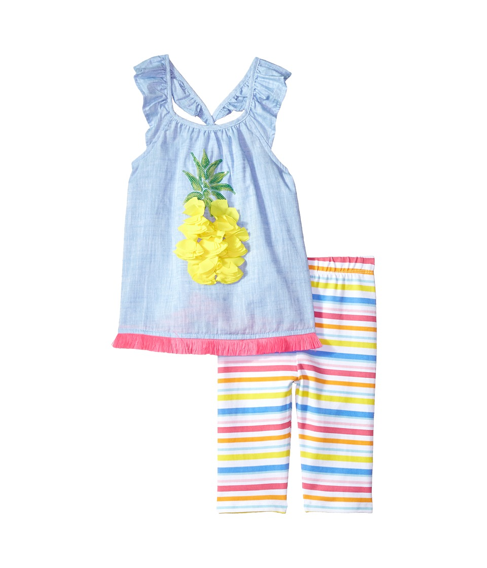 Mud Pie - Pineapple Ruffle Tunic Capris Two-Piece Set (In...