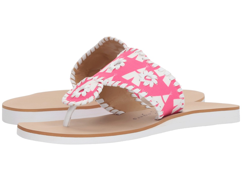 Jack Rogers Captiva (Bright Pink/White) Women's Shoes