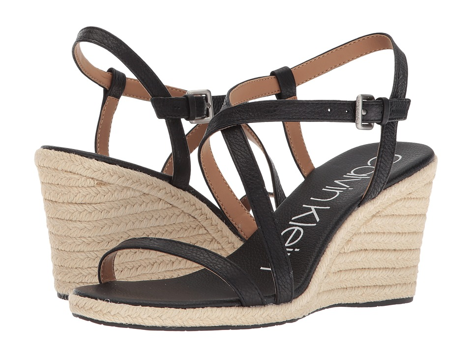 Calvin Klein Bellemine Espadrille Wedge (Black) Wedges