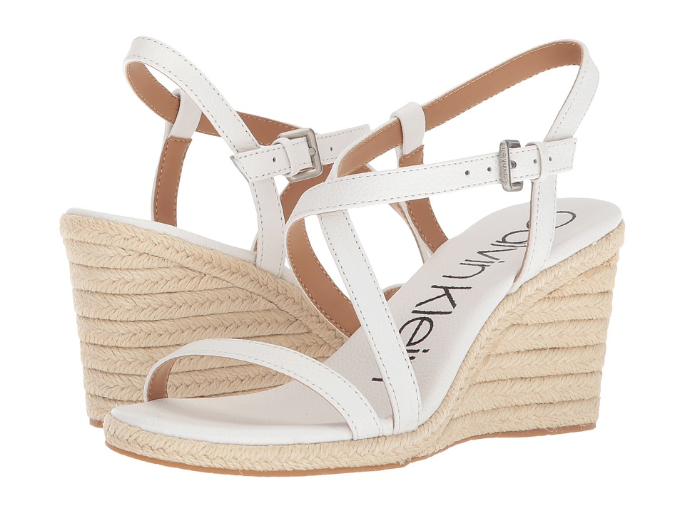 Calvin Klein Bellemine Espadrille Wedge (Platinum White) Wedges