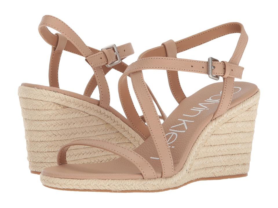 Calvin Klein Bellemine Espadrille Wedge (Desert Sand) Wedges