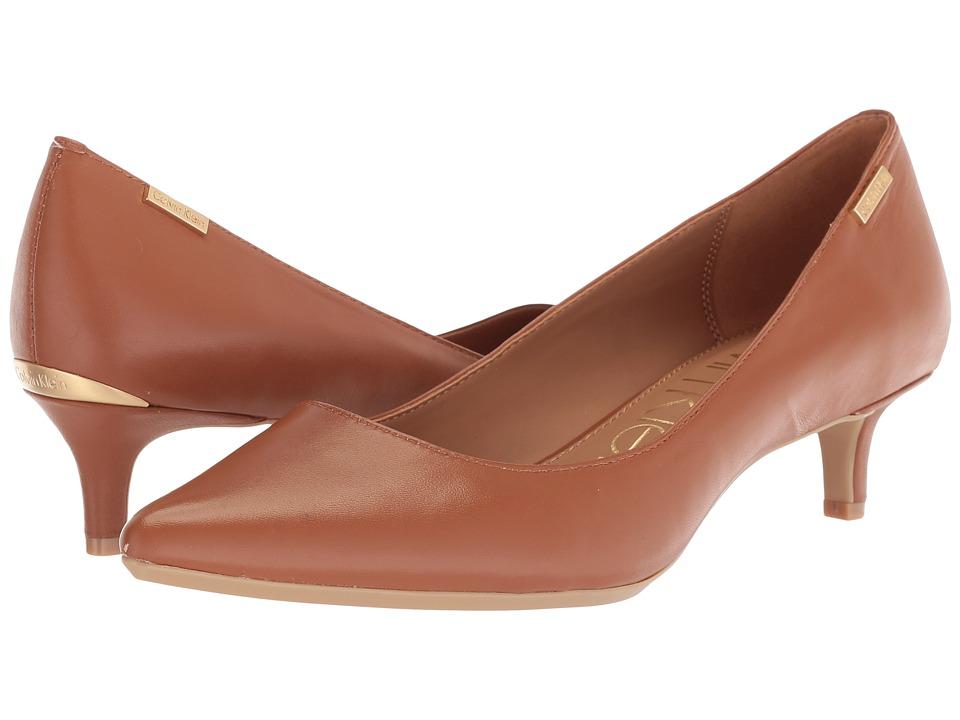 Calvin Klein Gabrianna Pump (Cognac) 1-2 inch heel Shoes