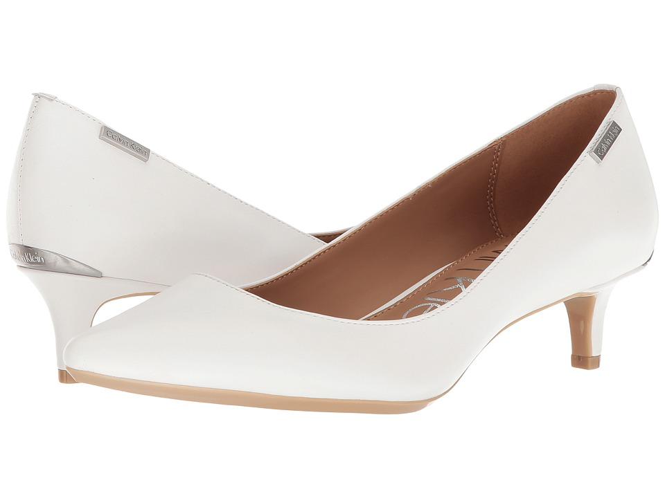 Vintage Wedding Shoes, Flats, Boots, Heels Calvin Klein - Gabrianna Platinum White Womens 1-2 inch heel Shoes $99.00 AT vintagedancer.com
