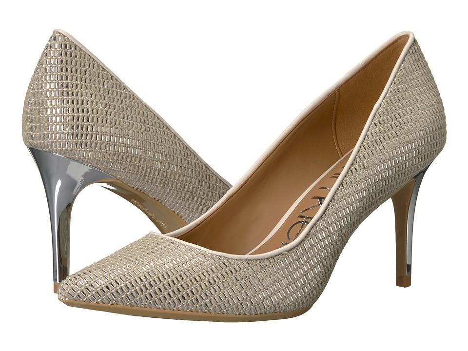 Calvin Klein Gayle Pump (Natural/Silver/Soft White) High Heels