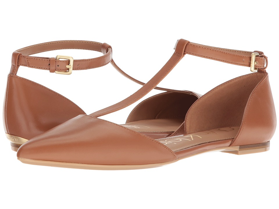Calvin Klein Ghita Flat (Cognac) Women's Dress Flat Shoes