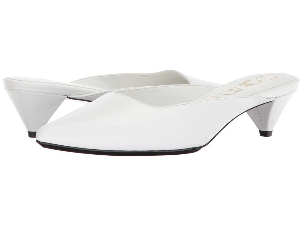 Vintage Wedding Shoes, Flats, Boots, Heels Calvin Klein - Lanora Platinum White Womens Shoes $109.00 AT vintagedancer.com
