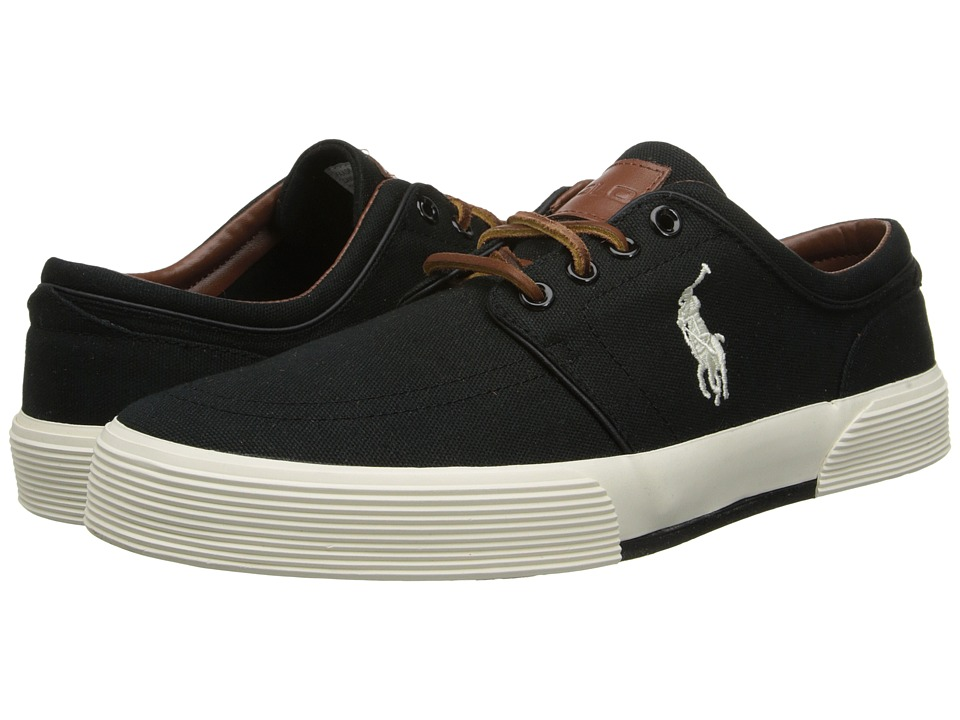 Polo Ralph Lauren - Faxon Low (Polo Black/Cream) Mens Lace up casual Shoes