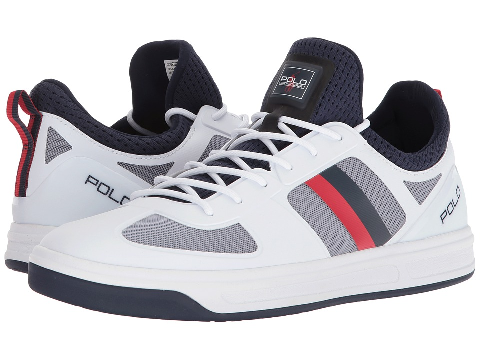 Polo Ralph Lauren - Court 200 (Pure White/French Navy/Ralph Lauren Red) Mens Shoes