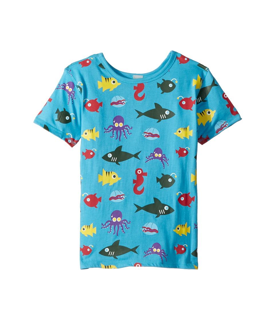 4Ward Clothing - PBS KIDS(r) - Ocean Pattern Reversible Tee (Toddler/Little Kids) (Sky Blue) Kids T Shirt