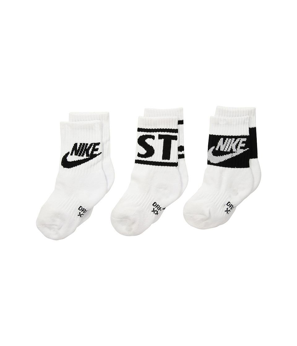 Nike Kids - JDI Crew Socks (Toddler) (White) Boys Shoes